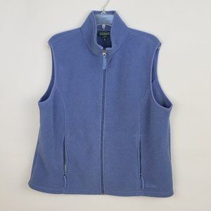 LL Bean Full Zip Polartec Fleece Vest Blue
